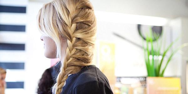 прическа колосок на длинные волосы
