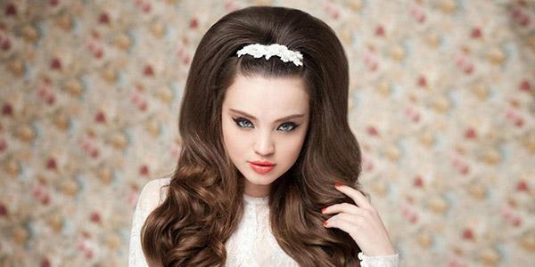 прическа с начесом на длинные волосы