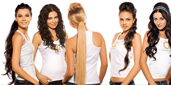 укладка накладных волос