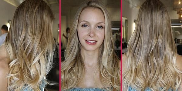 калифорнийское окрашивание на русые волосы