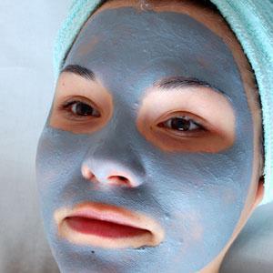 голубой глина для лица