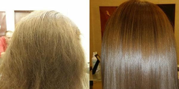 кератиновое выпрямление волос при помощи cocochoco