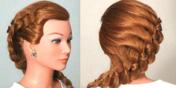 Разновидности плетения кос на средние волосы схемы