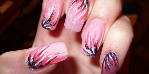 на ногтях акриловыми красками