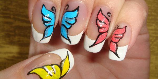 рисунков на ногтях  акриловыми красками
