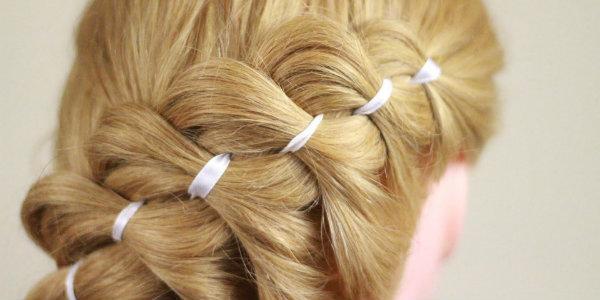 Французская коса в объеме из прядей