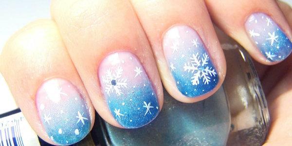 Как сделать новогодний праздничный маникюр на короткие ногти