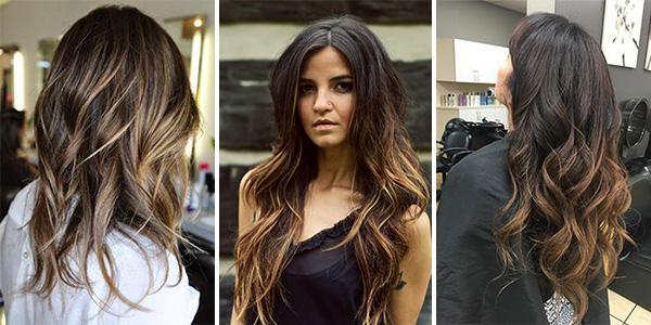 Балаяж на темные волосы: виды и способы выполнения процедуры