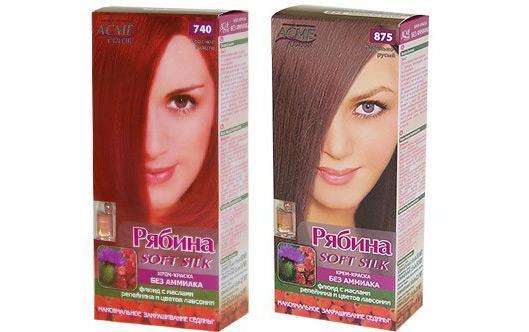 Краска для волос «Рябина»: полный обзор палитры цветов