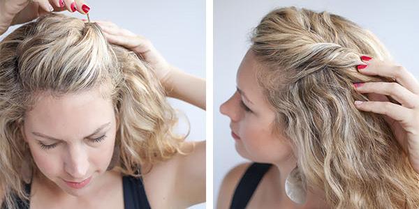 Как убрать челку на средние волосы