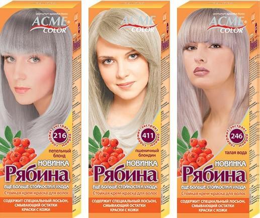 Краска Рябина палитра цветов blond