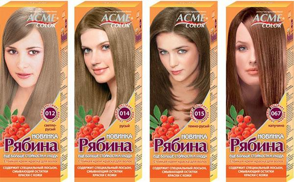 Краска Рябина палитра цветов rusyy