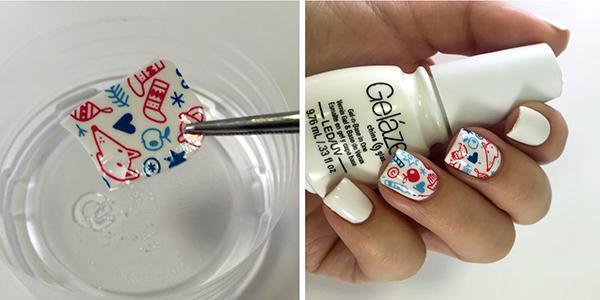 Как правильно клеить переводные (водные) и клеевые наклейки на ногти