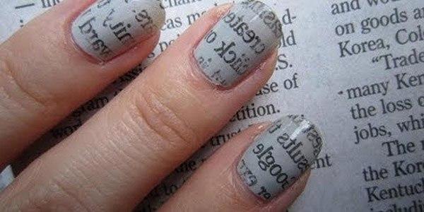 Как сделать маникюр из газеты: рекомендации и способы