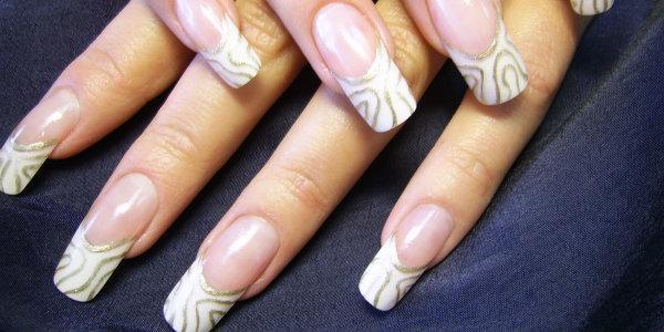 Дизайн ногтей френч с рисунком, простые рисунки, схемы