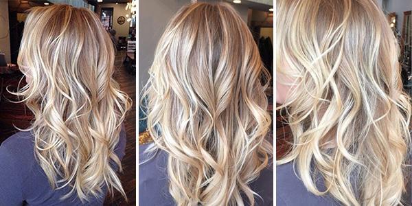 Балаяж на светлые волосы2