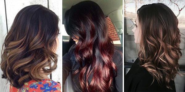 Балаяж на темные волосы7