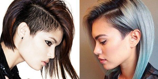 kare-s-vybritym-viskom-e1517522935161 Прически на средние волосы: 100 фото самых стильных укладок