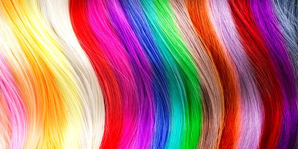 Hair colors palette Dyed hair color samples